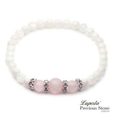 大東山珠寶 粉晶珠貝晶鑽氣質手鍊