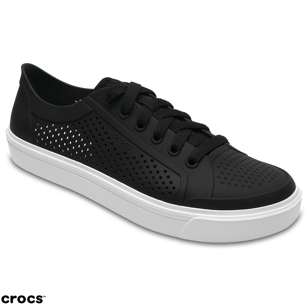 Crocs 卡駱馳 (女鞋) 都會街頭洛卡繫帶鞋 204884-001