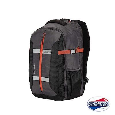 AT 美國旅行者 Magna大開口胸扣多功能筆電後背包15(黑)