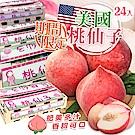 【天天果園】美國桃仙子水蜜桃 x24入 (每箱7.5斤)