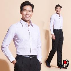 極品西服-配色彩條修身版長袖襯衫_紫紅(SW035-68)