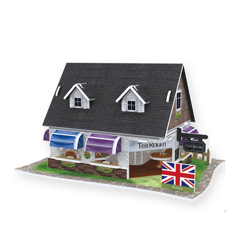 世界之窗 3D立體拼圖 《英國》 英式紅茶館 3D World Style