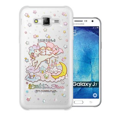 三麗鷗 雙子星仙子 Samsung Galaxy J7 水鑽系列軟式手機殼(飛馬...