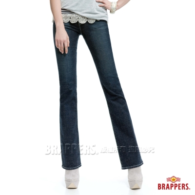 BRAPPERS 女款 新美腳Royal系列-女用彈性小喇叭褲-藍灰