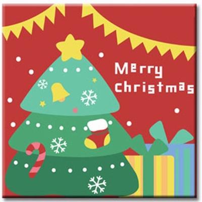 LOVIN 超萌韓版數字油畫 聖誕樹 1幅 20x20cm