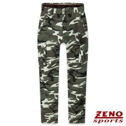 ZENO 保暖刷毛迷彩休閒褲‧棕綠30-42