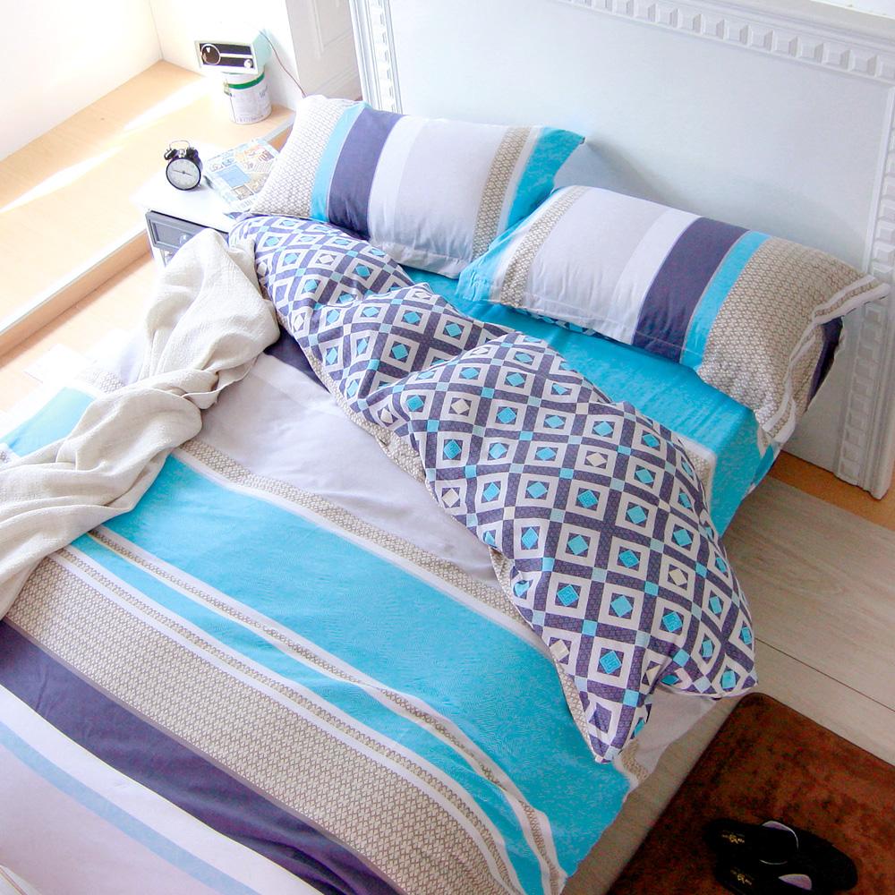 鴻宇HongYew 100%純棉 托曼斯 單人床包枕套兩件組