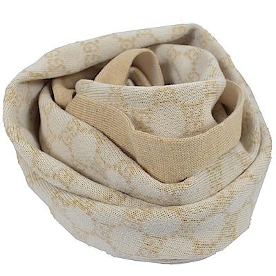 GUCCI 經典G LOGO造型長圍巾/披肩(米色)