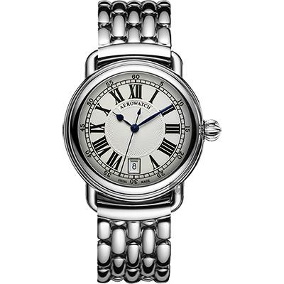 AEROWATCH 經典扭索時尚腕錶-銀/40mm
