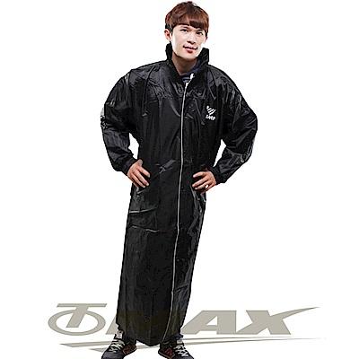 JUMP新二代前開素色雨衣-黑色