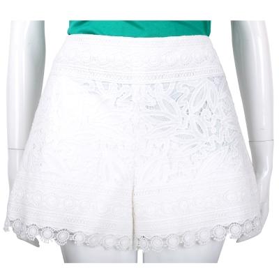 TORY BURCH 白色織花設計蕾絲短褲