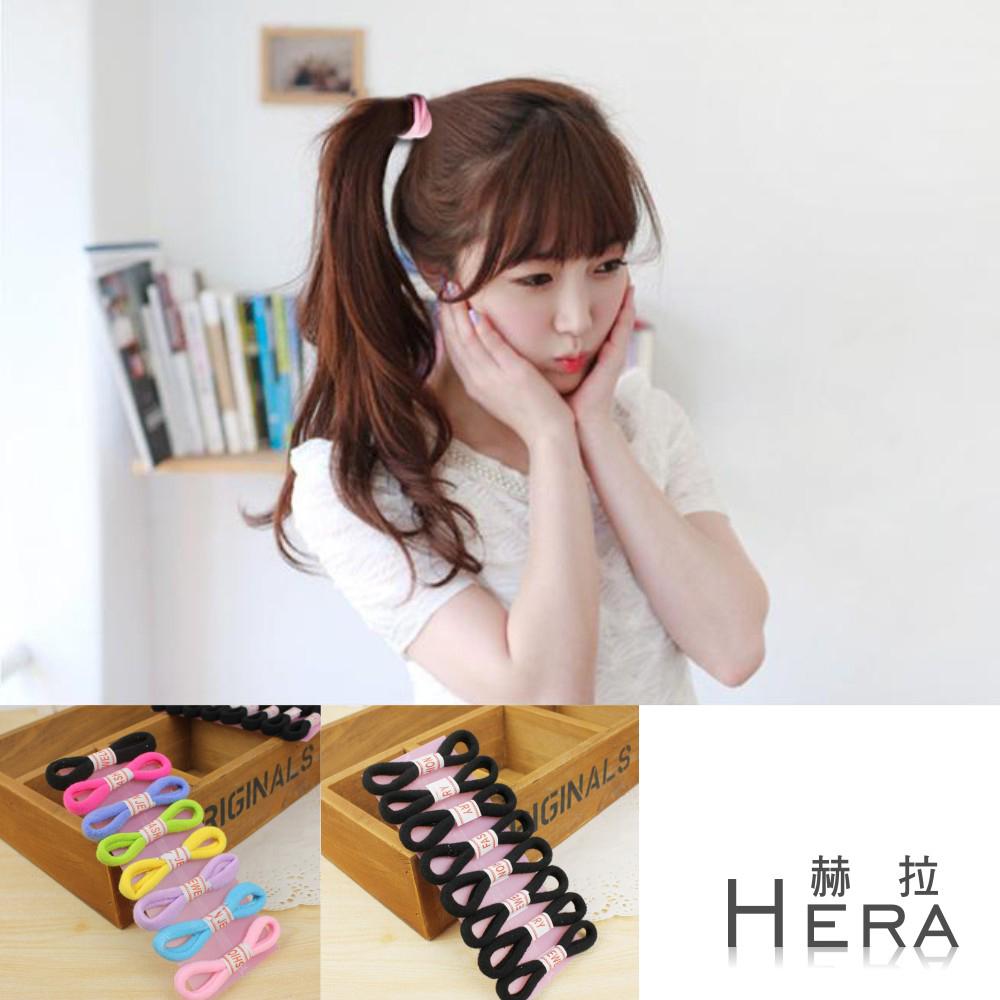 Hera 赫拉 純色高彈力毛巾髮圈/髮束-16入組