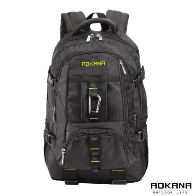 AOKANA奧卡納 台灣釦具 輕量防潑水護脊紓壓機能後背包(黃/黑)68-073