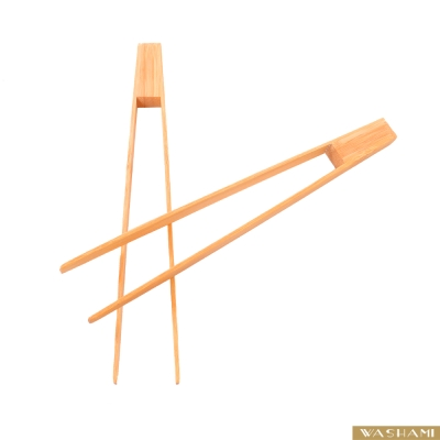 WASHAMl-進口天然楠竹烤肉夾 25cm(二入)