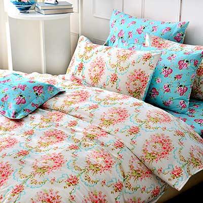 Grace Life 甜美嫩彩 精梳純棉雙人涼被床包四件組