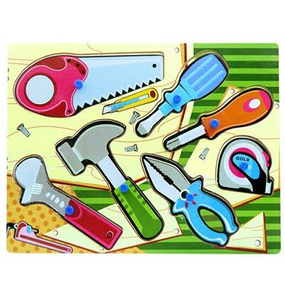 【樂兒學】工具組益智學習木製拼圖