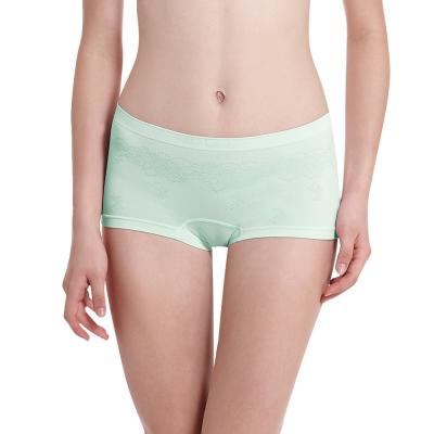 LADY 超彈力親膚無痕系列 中腰平口褲(綠色)