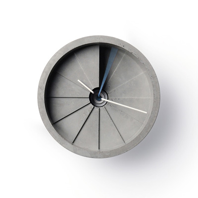 22四度空間水泥掛鐘-藍/150mm