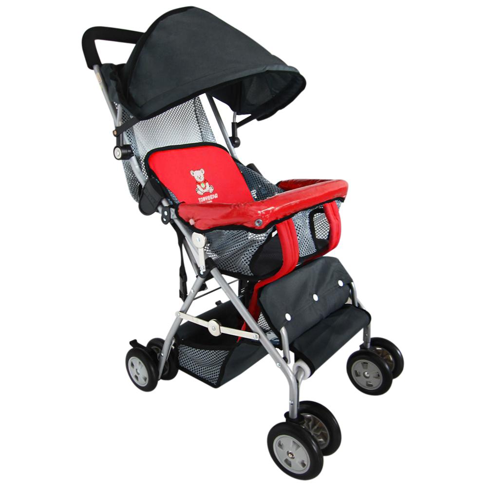 TONYBEAR可揹式嬰兒三用背架推車-紅色