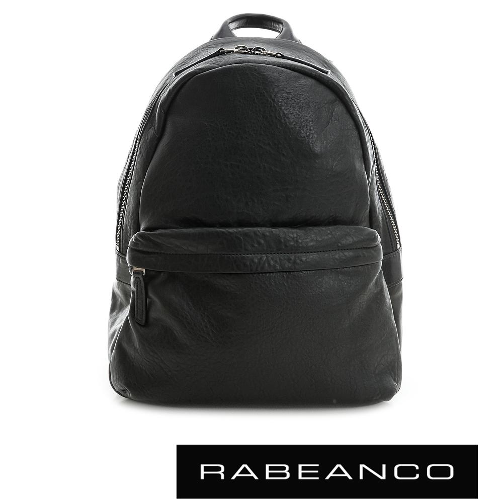 RABEANCO 迷時尚羊皮系列基本款後背包 黑