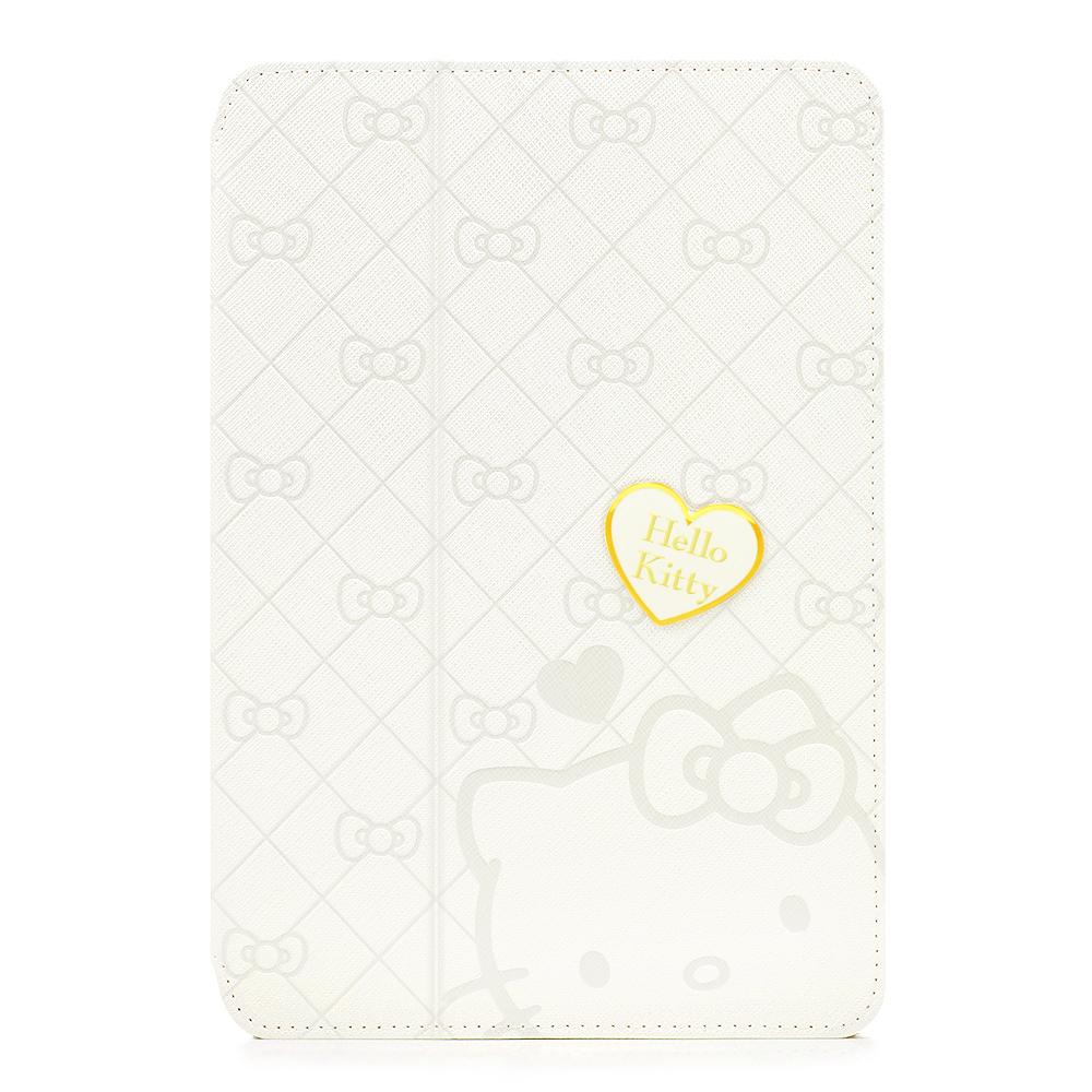 GARMMA Hello Kitty iPad Mini1代摺疊式皮套–典藏白