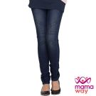 Mamaway 孕期繃帶造型窄管牛仔褲(共二色)