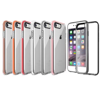 水漾-iPhone7 4.7吋 神盾彩色超防摔氣墊手機殼-送玻璃保護貼