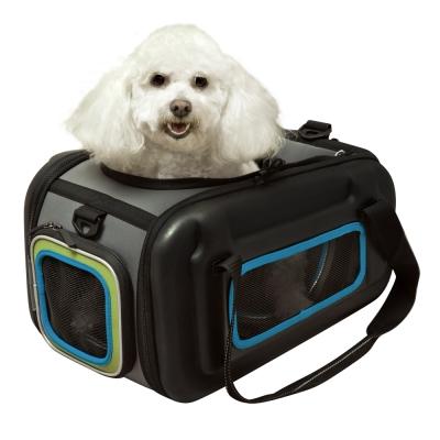 IBIYAYA依比呀呀-自由坐寵物交通包-藍綠(FC1252)