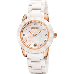 Folli Follie PRISMATIC 陶瓷腕錶-珍珠貝x白/38mm