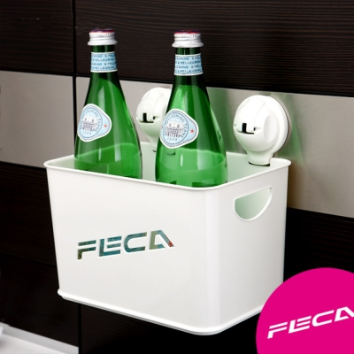 FECA非卡-無痕強力吸盤 黛安娜置物盒(白)