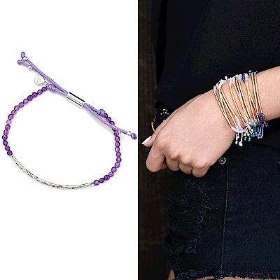 GORJANA POWER GEM 平衡骨 銀墜 紫水晶手鍊 可調式手圍 專注力療癒啟發