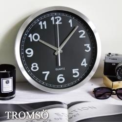 TROMSO風尚義大利金屬時鐘-黑色時尚