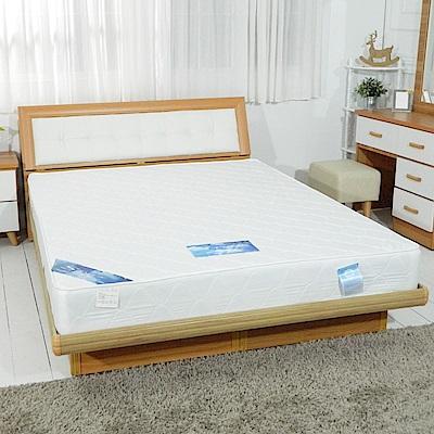 時尚屋-日式3-5尺單人加大緹花布蓆面獨立筒彈簧床