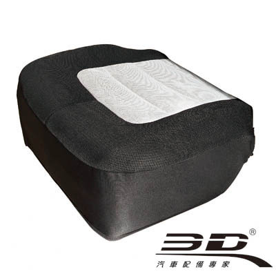 3D 樂活椅套 通用型騎士灰黑座套 - 1入