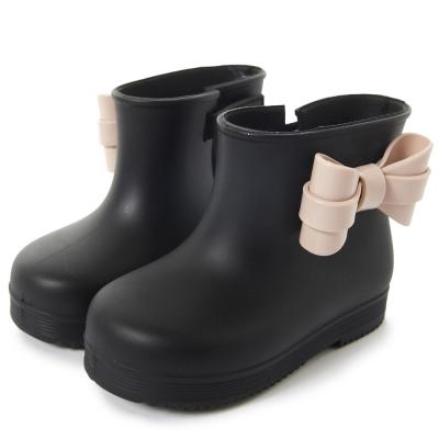 MINI MELISSA 可愛大蝴蝶結短靴童鞋-黑色