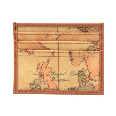 Alviero Martini 義大利地圖包 單片7卡卡夾-地圖黃