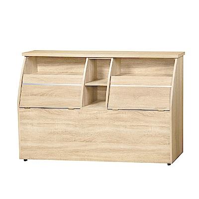 品家居 姆士特5尺雙人皮革床頭箱(四色)-154.5x30x92cm免組