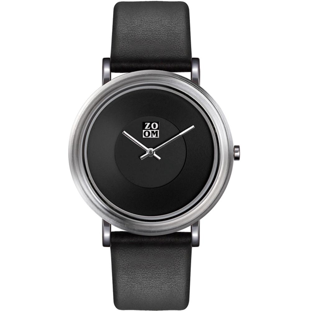 ZOOM - 168°系列設計極簡風腕錶-黑/44mm