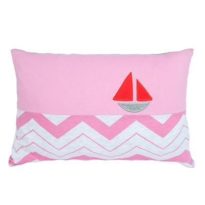Yvonne Collection帆船30x45cm方形抱枕-粉紅