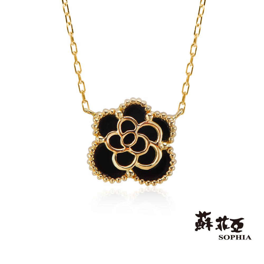 蘇菲亞SOPHIA 項鍊 - 玫瑰造型瑪瑙套鍊