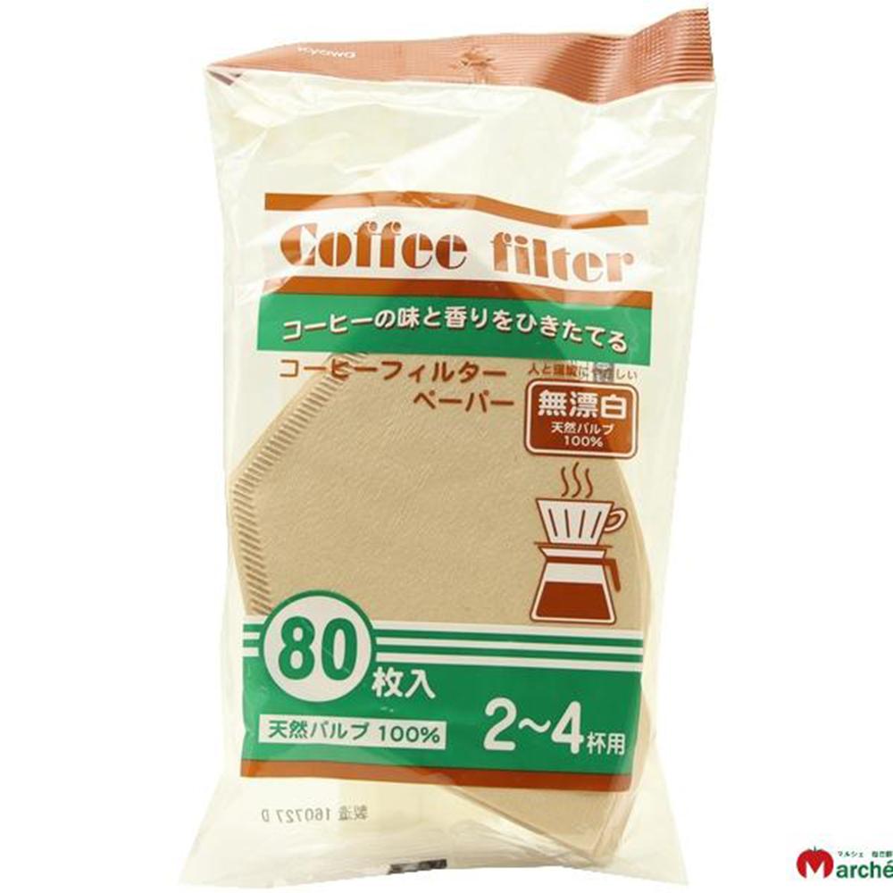 WAVA 日本KYOWA無漂白咖啡濾紙80枚(8H)