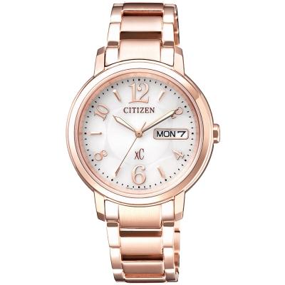 CITIZEN 星辰xC 亞洲限定 光動能女錶(EW2422-55A)-玫瑰金/33mm