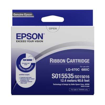 (一百入)EPSON S015535色帶(適用LQ-670/680)