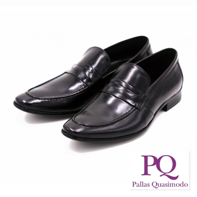 PQ 直套式尖頭男仕皮鞋 男鞋-黑(另有棕)