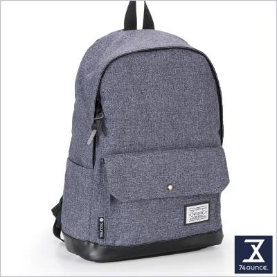 74盎司 CITY S 配皮設計後背包(14吋)[G-904]深藍