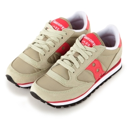 (女)美國 SAUCONY 經典時尚休閒輕量慢跑球鞋-橄欖綠桃