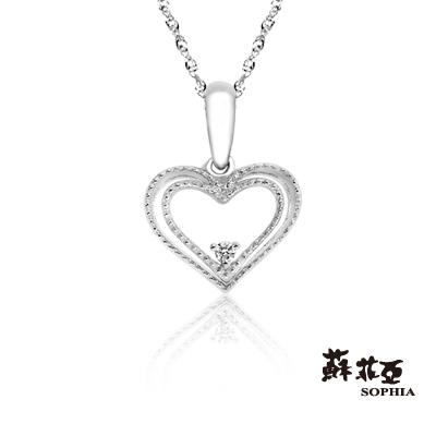 蘇菲亞SOPHIA 鑽石項鍊-造型輕飾品怦然心動鑽鍊
