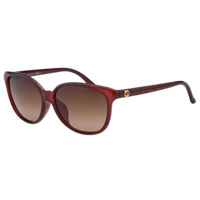 GUCCI太陽眼鏡 小貓眼 金蔥 (紅色)