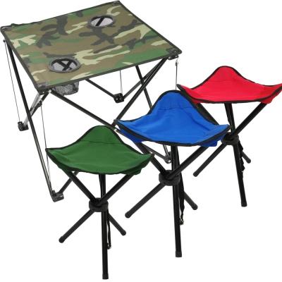 迷幻森林輕量摺疊桌*1+輕巧三角椅*2