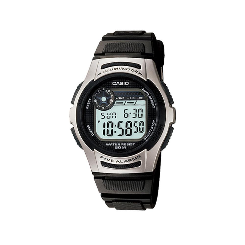 CASIO 元氣小子休閒數字錶(W-213-1A)-黑/40mm